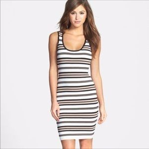 FELICITY & COCO || striped ribbed bodycon dress XS
